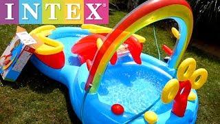 Intex Rainbow Ring Inflatable Play Center Pool Setup Tutorial