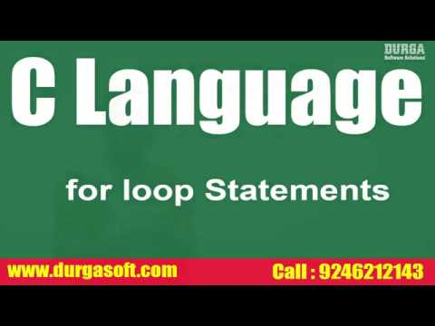 RealTime Faq`s On C Language || For Loop Statements  by Santoshi