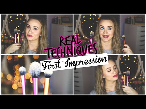 First Impressions || Real Techniques Brushes