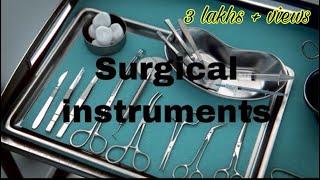 Basic Surgical Instruments and their uses - graduates , postgraduates || Mis.Medicine