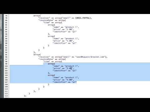 Paypal Adaptive Payments - Parallel Payments JSON Part 2