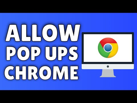 How To ALLOW Pop Ups On Google Chrome