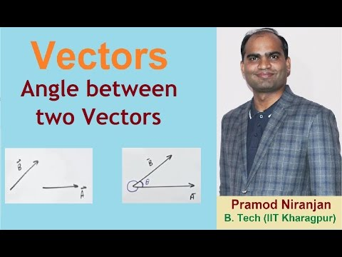 7. Physics | Class 11 | Vectors | Angle between two vectors | by Pramod Niranjan