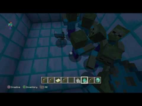 How to make a skeleton and zombie wear full diamond armor and a sword
