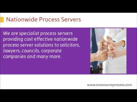 Nationwide Process Servers by One Source Process