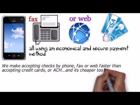 Accept Checks By Phone - Checks By Fax, Checks by web