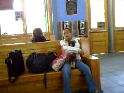 Train Station Manang Tin Princeton Junction wtih Family