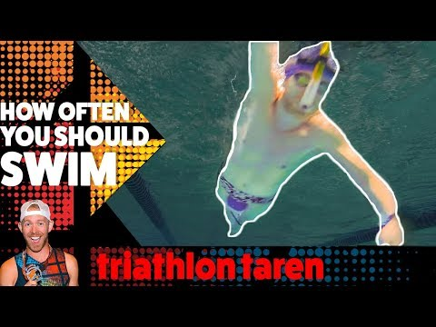 How many times a week do TRIATHLETES NEED TO SWIM to get faster?
