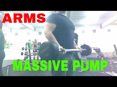 Amazing Arm workout | getting pumped up: Kaged Muscle pre workout fruit punch energy drink