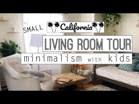 Small Minimalist Living Room Tour -Minimalism with Kids!