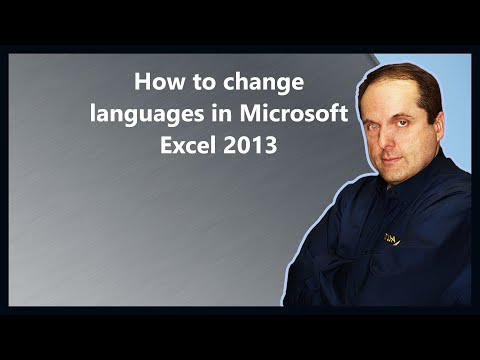 How to change languages in Microsoft Excel 2013