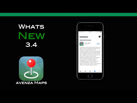 Avenza Maps whats new with 3.4