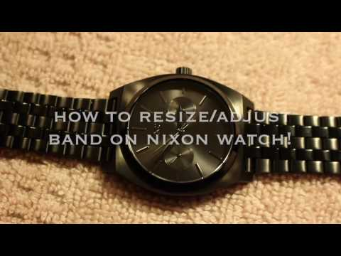 How to Resize/Adjust Band on Nixon Watch!