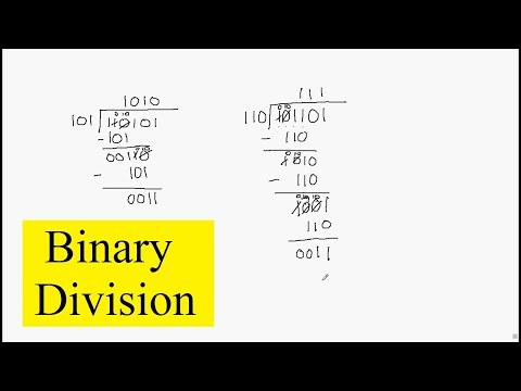 Binary Number Division Tutorial