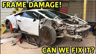 Rebuilding A Wrecked Lamborghini Huracan Part 2