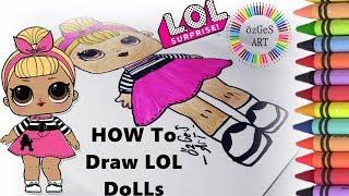 Lol Bebek Nasil çizilir How To Draw Curious Qt L O L Surprise