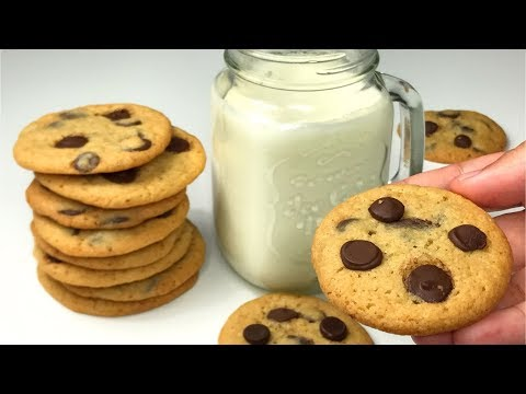 Crispy Thin Chocolate Chip Cookies Recipe ASMR | Resepi Biskut Coklat Chip Rangup