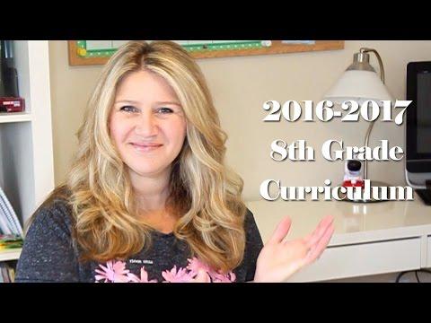 2016-2017 8th Grade Homeschool Curriculum