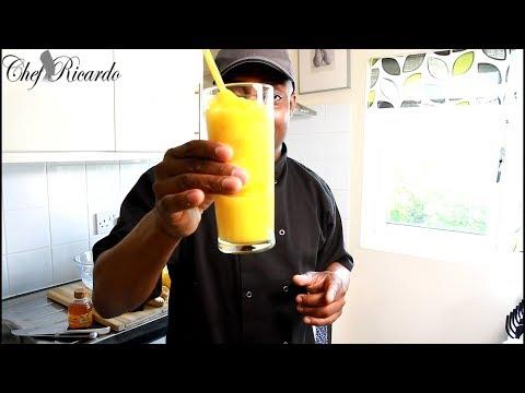 Chef Ricardo Summer Recipe /How to make mango smoothies recipe