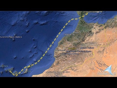 Sailing from the Mediterranian Sea and Atlantic to Canary Islands