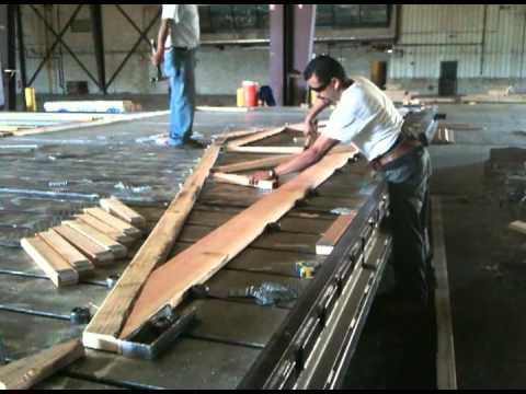 Wood truss construction