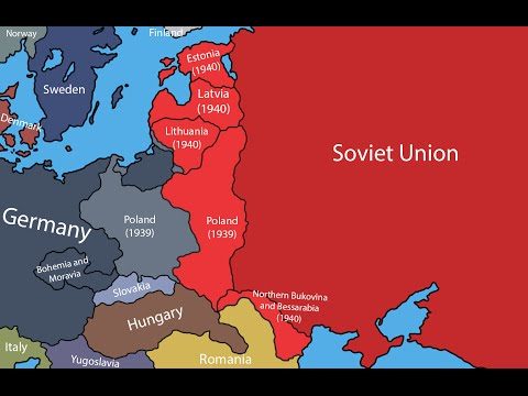 Map of Second World War, Europe - Map Eastern Europe 1939
