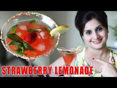 Strawberry Lemonade - Cool & Refreshing Mocktail Recipe | Kanak's Kitchen [HD]