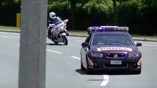 Motorcade of UK Prime Minister David Cameron in Canberra, Australia