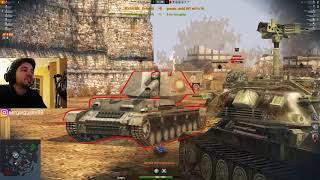 WoT Blitz - Человек стальные яйца.Самые потные бои в танках- World of Tanks Blitz (WoTB)