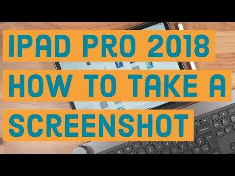 iPad Pro 2018/iOS 12   How to take screenshot