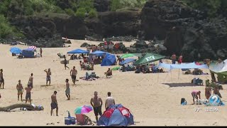 Thousands pack beaches over Memorial Day weekend