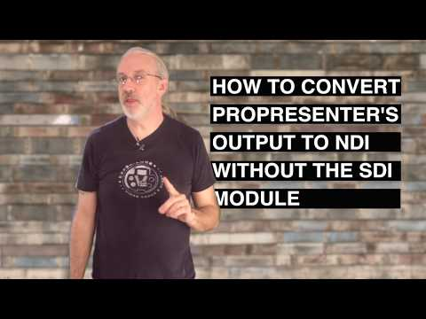 ProPresenter 6 Tutorial: How to send NDI without the SDI or AlphaKey Modules