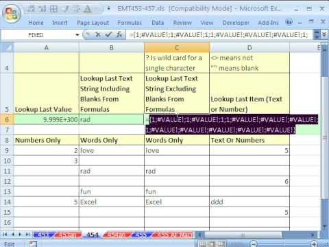 Excel Magic Trick 454: Get Last Number or Word or Anything 4 Amazing LOOKUP functions