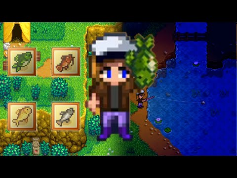 SPRING LAKE FISHING Stardew Valley [All day and all night]
