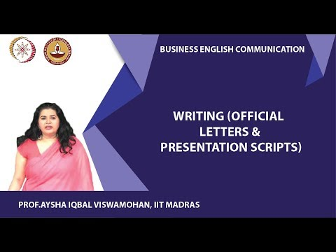 Writing (Official letters & Presentation scripts)
