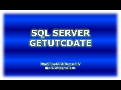SQL Server GetUTCDate