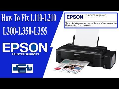 Resetter Epson L110, Service Required Error