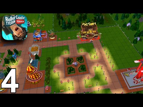 RollerCoaster Tycoon Touch - Levels 13,14,15,16 - Gameplay Part 4 (iOS Android)