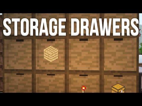 Storage Drawers (1.8) - Le mod pour le stockage  ! | Présentation - Fuzemod