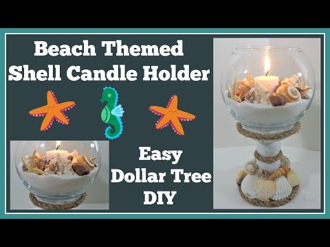 Shell Candle Holder 🤑 Dollar Tree DIY