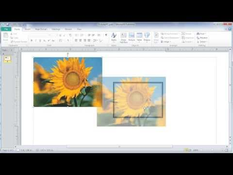 Crop and Size pictures in MS Publisher