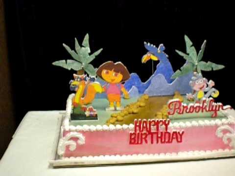 dora 3d cake
