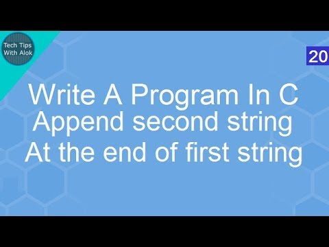 Write A Program In C to append second string at the end of first string