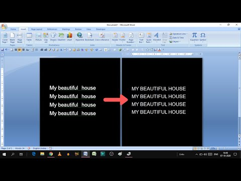 how to convert small letters to capital letter | how to convert all small letters to capital in word