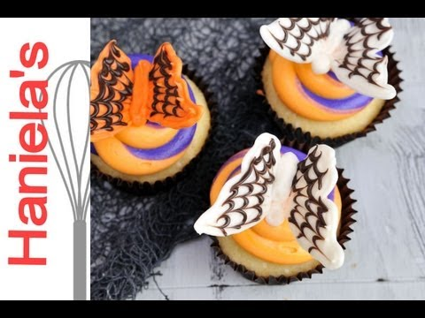 How To Make Spiderweb Chocolate Butterflies for Halloween