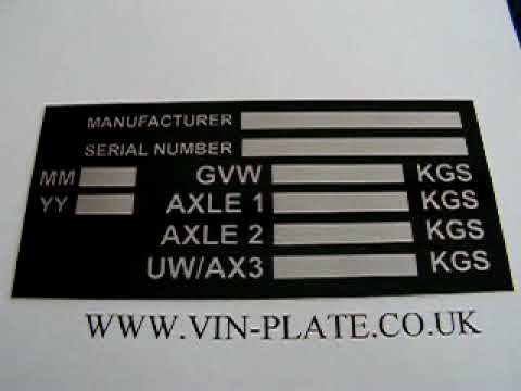 VIN PLATE CHASSIS ID TAG