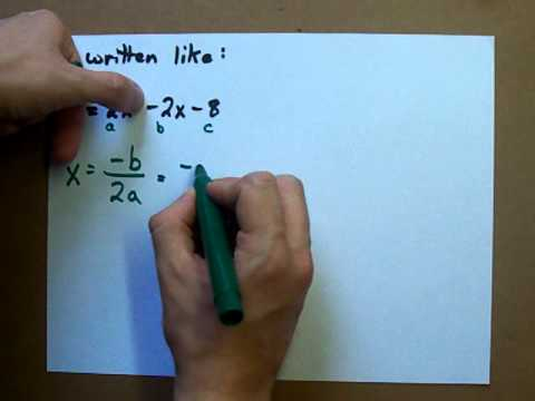 How to Find the Vertex of a Parabola