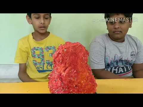 How to make volcano and eruption