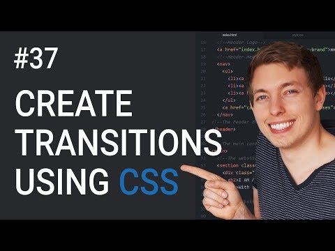 37: Create Transitions Using CSS | Create Hover Animations | Learn HTML & CSS | HTML Tutorial