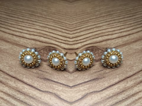 Pearl studs | DIY | With quilling paper